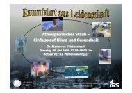 Atmosphärischer Staub - IRS - Universität Stuttgart