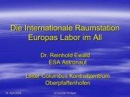Die Internationale Raumstation Europas Labor im All - IRS ...