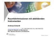 Raumfahrtmissionen mit abbildenden Instrumenten - IRS