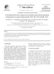 Correlation between oxygen excess density and critical ... - IRS