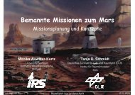 bemannt zum Mars - IRS - Universität Stuttgart