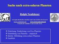 Suche nach extrasolaren Planeten - IRS