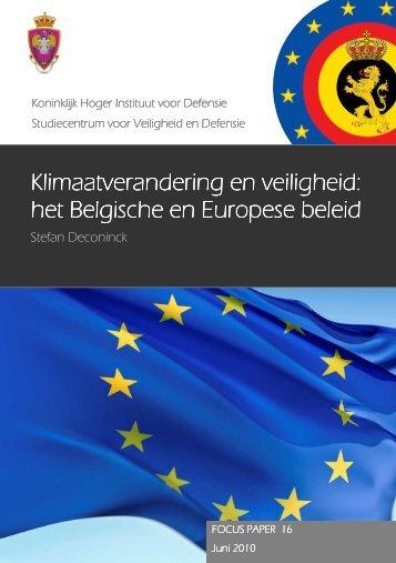 Klimaatverandering en veiligheid: het Belgische en ... - KHID