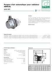 Purgeur d'air automatique pour radiateur AERCAL - Caleffi