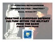 creating a european defence culture within the military from the ...