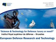 European Defence Research and Technology