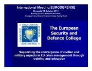 Briefing Colloquium Eurodefence 20 Oct 2011 (2