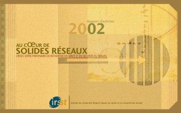 Rapport d'activités 2002 - Irsst