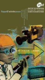 IRSST Rapport d'activités 2000