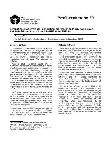 Téléchargement gratuit(PDF 15 Ko) - Irsst