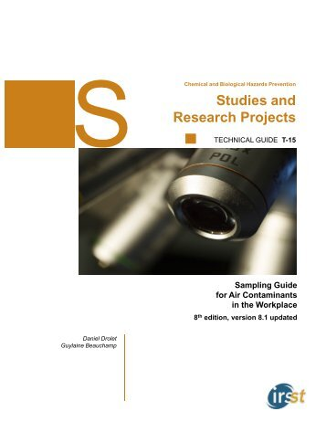 Sampling Guide for Air Contaminants in the Workplace - Irsst