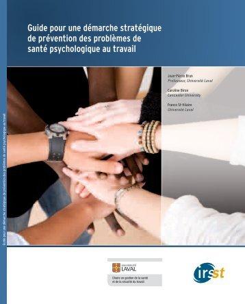 Guide pour une démarche stratégique de prévention des ... - Irsst