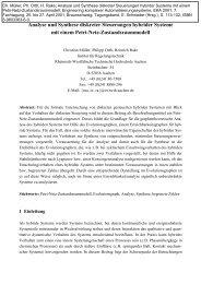 Analyse und Synthese diskreter Steuerungen hybrider Systeme mit ...
