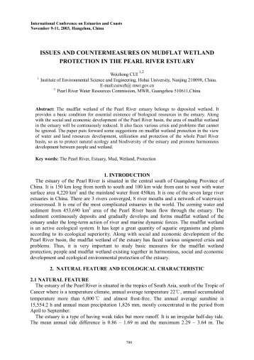 issues and countermeasures on mudflat wetland protection in