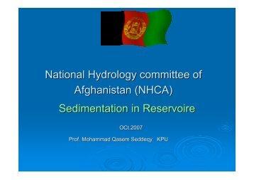 National Hydrology committee of Afghanistan (NHCA ...