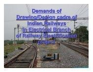 Demands of Drawing/Design cadre of Indian Railways in ... - Irtsa.net