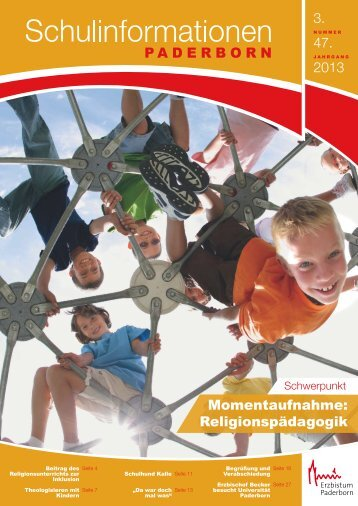 Religionspädagogik. Heft 3/2013 der Schulinformationen - Institut für ...