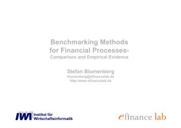 Benchmarking Methods for Financial Processes-