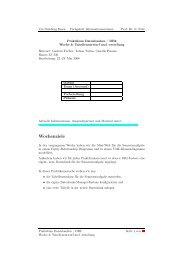 Vorbereitung: Relationenschema und Normalformen, Präsenz