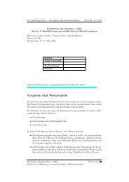 Modellierung in E/R und UML, Präsenz - Informationssysteme