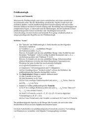 Einschub: Prädikatenlogik