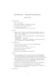 Beispiel-Fragen für die mündliche Prüfung