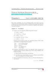 Übungsblatt 6 - Informationssysteme