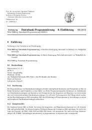 Datenbank-Programmierung 0. Einf ¨uhrung - Technologie der ...