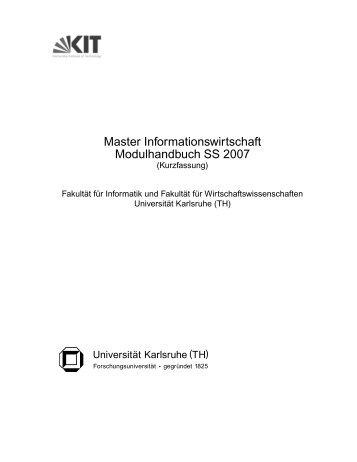 Master - Technologie der Informationssysteme