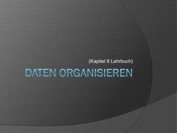 Daten organisieren
