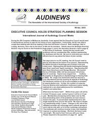 Vol. 3: 1 2003 AUDINEWS - International Society of Audiology