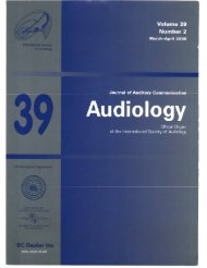 Volume 39 Number 2 - International Society of Audiology