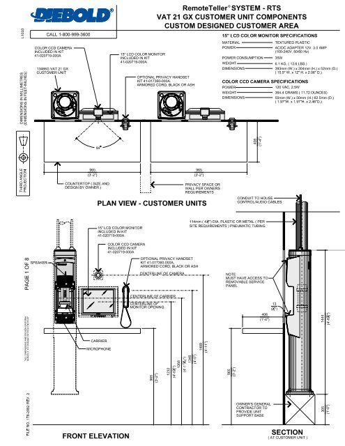 Diebold VAT 21 Control Box