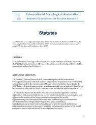 ISA RC07 Statutes - International Sociological Association