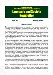 ISA RC25 - International Sociological Association