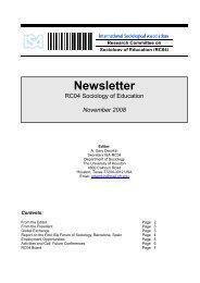 Newsletter - International Sociological Association