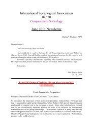 Comparative Sociology - International Sociological Association