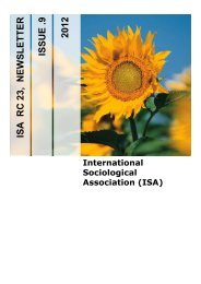 issue .9 2012 isa rc 23, newsletter - International Sociological ...