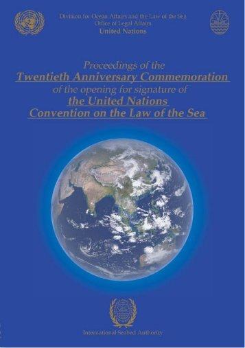 Proceedings - International Seabed Authority
