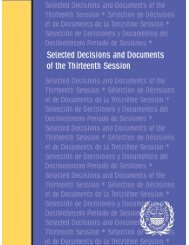 Selected Decisions and Documents of the Thirteenth Session