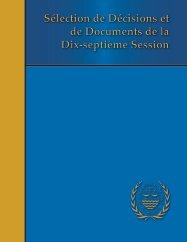Sélection de Décisions et de Documents de la Dix-septième ...