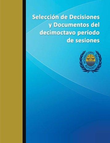 Selección de Decisiones y Documentos del Decimoctavo Período ...