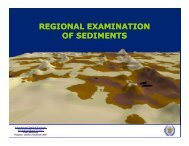 regional examination of sediments - International Seabed Authority