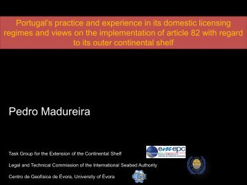 Portugal's practice and experience in its domestic licensing regimes ...