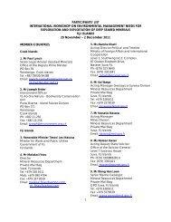 participants' list international workshop on environmental