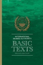 ISA Basic Texts - International Seabed Authority