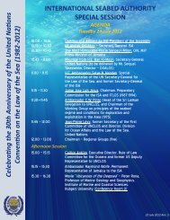Agenda and Statements - International Seabed Authority