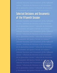 Selected Decisions and Documents - International Seabed Authority