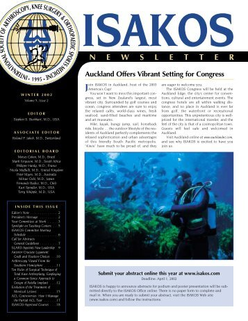 Winter 2002 Newsletter - ISAKOS