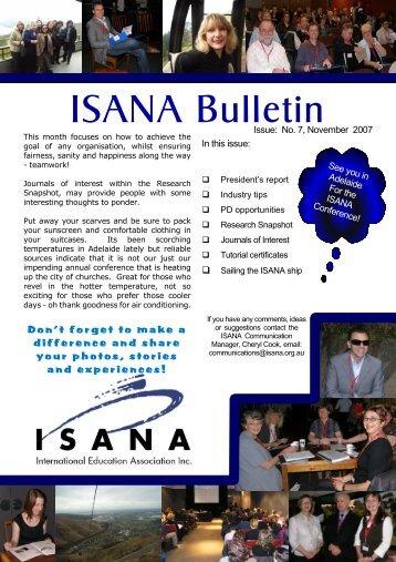 November 2007 issue 7 - ISANA